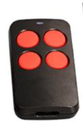 универсальный пуль для ворот РТ 2110 черный с красными кнопками