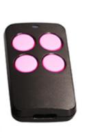 универсальный пульт для ворот PT 2110 черный с розовыми кнопками